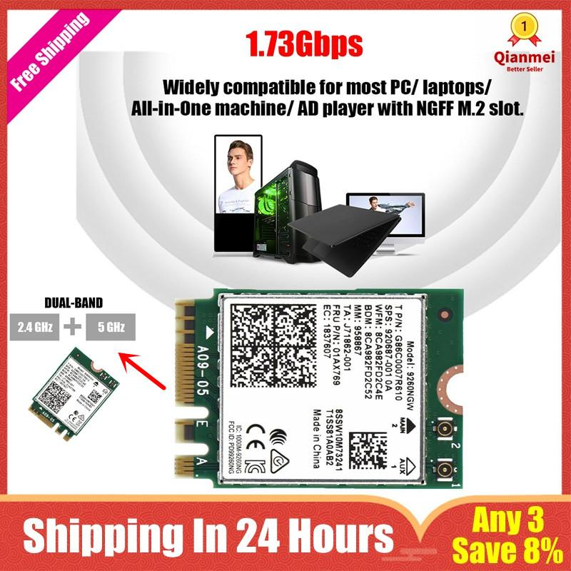 (Any 3, Save 8%)Qianmei 2 4G + 5G Dual-Band Wireless WIFI Card Bluetooth  5 0 for NGFF M 2 PC/ Laptop - intl
