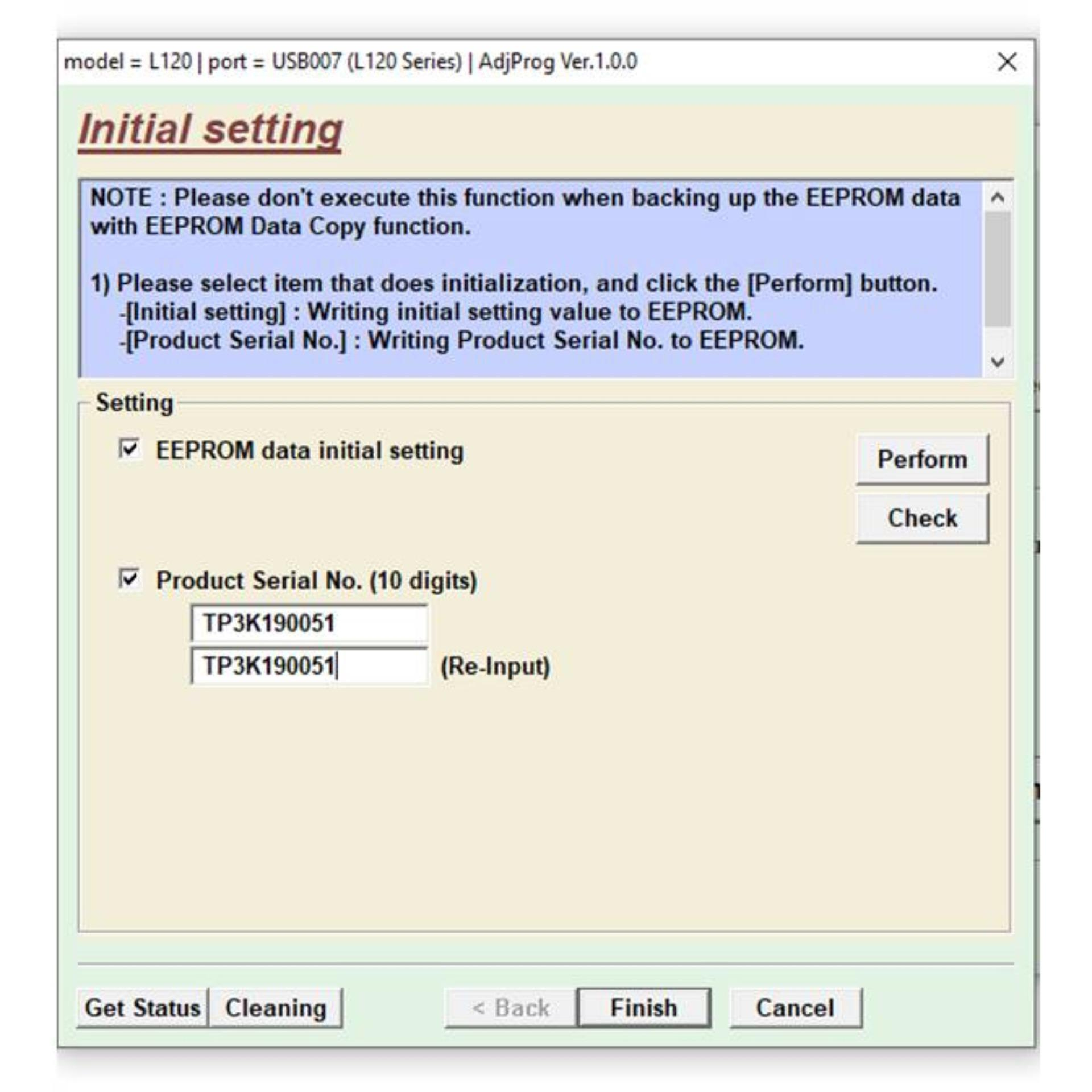 Epson L120 Resetter Adjustment Program Unlimited Use for any PC