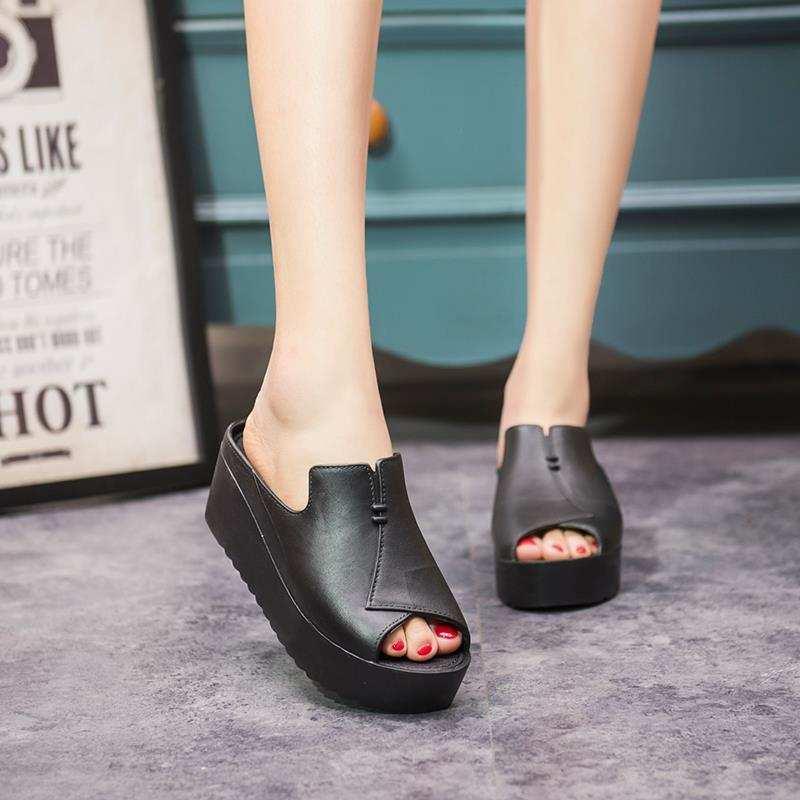 e6da494086c6 GW 828 SALE Womens Wedge Flip-Flops Open Toe Adjust One Size
