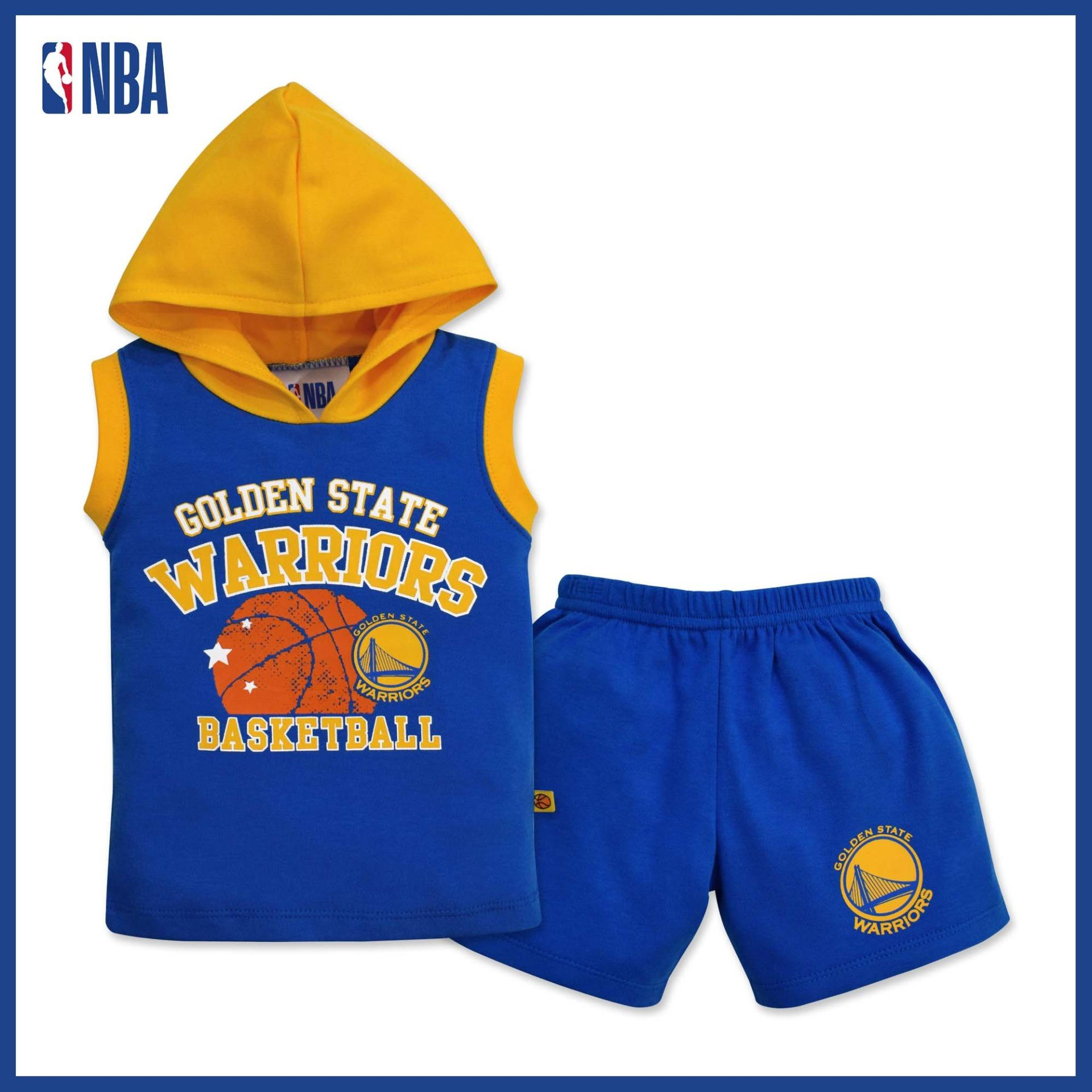 NBA Baby - Muscle Shirt with Hood and Shorts Set (Baby Baller - Warriors) 17575f999