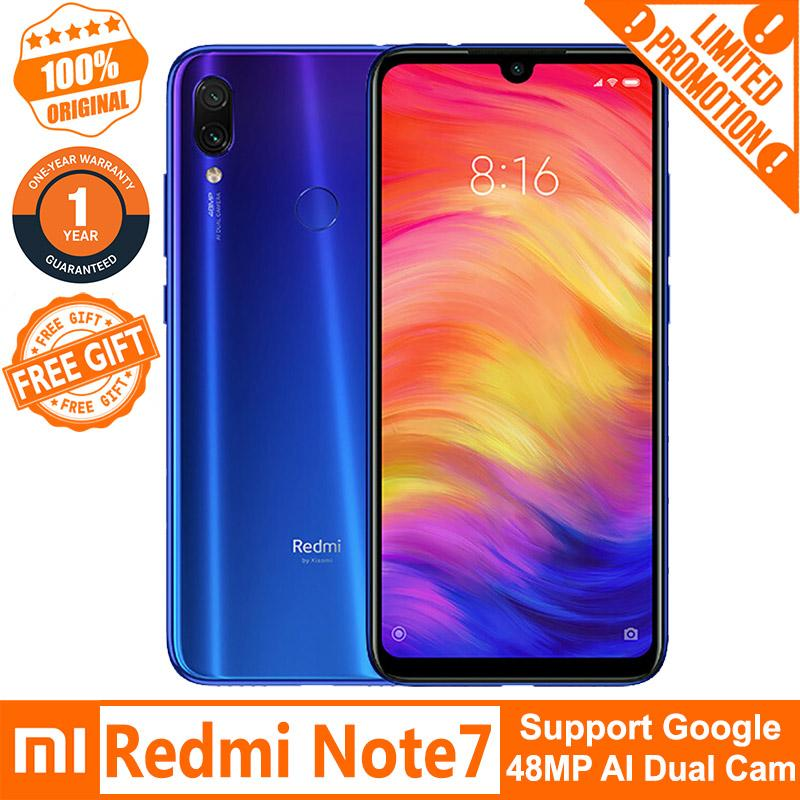 Xiaomi Redmi Note 7 (3GB+32GB / 4GB+64GB / 6GB+64GB) 4G LTE Smartphone  Chinese ROM Free Tempered Glass