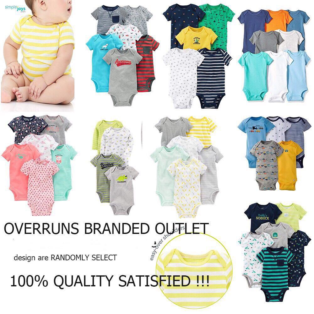 cffe6d6da8 CiCi Baby CARTER Or BRANDED Cotton Romper Clothes Onesie ASSORTED Designs  Mix Of Short Sleeves Sleeveless