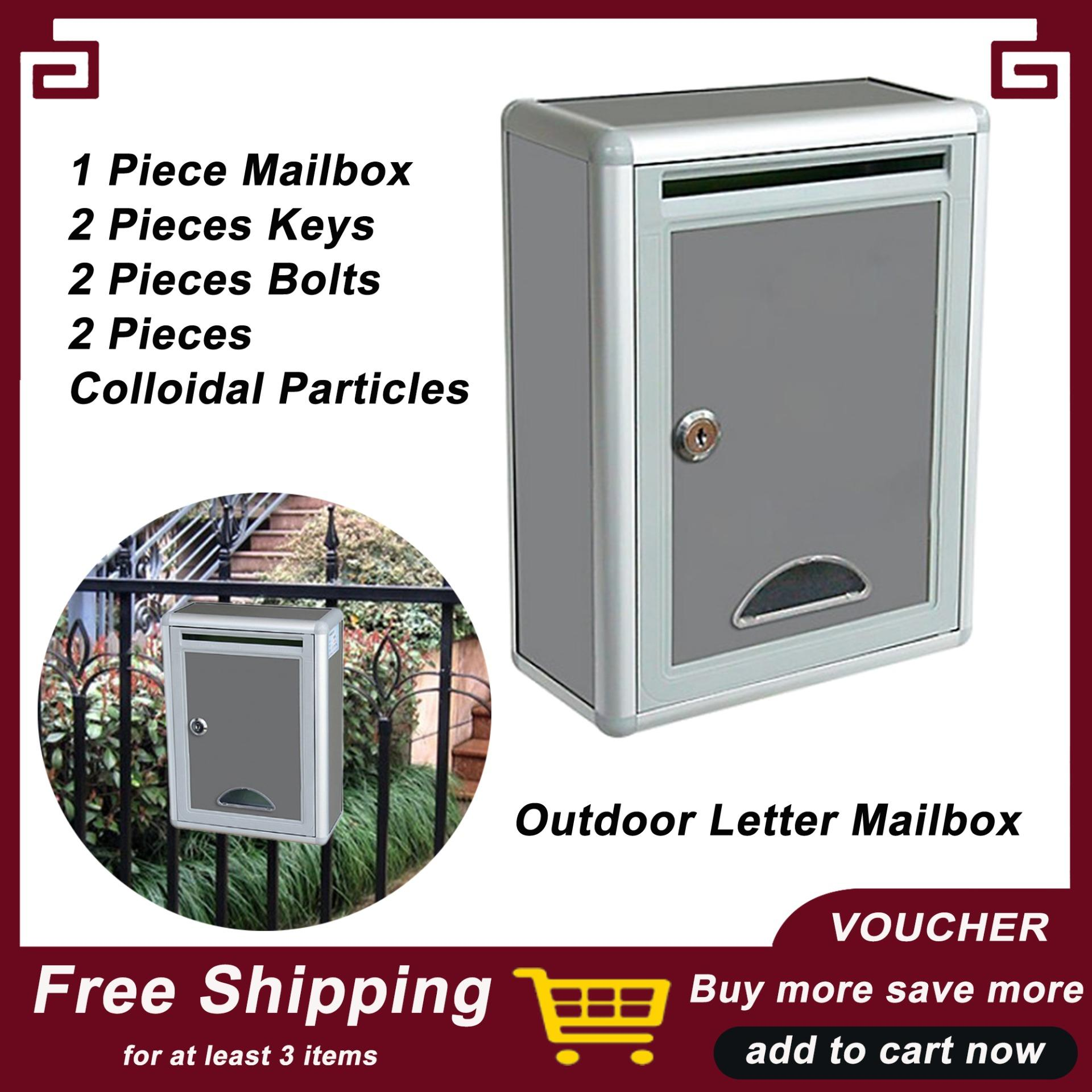 Blesiya Letter Mailbox Outdoor Post Box with Waterproof Lockable Durable  Wall Mounted Letter Box Post Box with Lock for Home