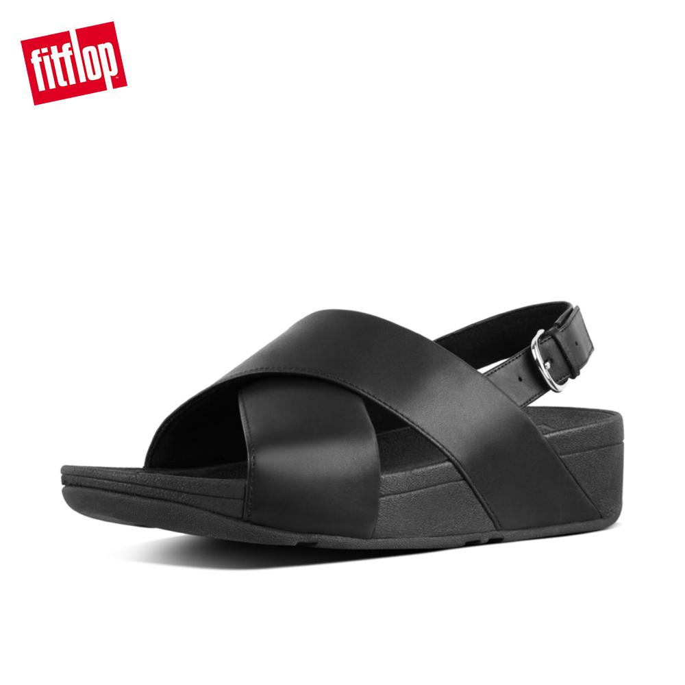 3db16962ca0a2 FitFlop Women s Sandals K03 Lulu Cross Backstrap Sandals - Leather  Comfortable Fashion Flats