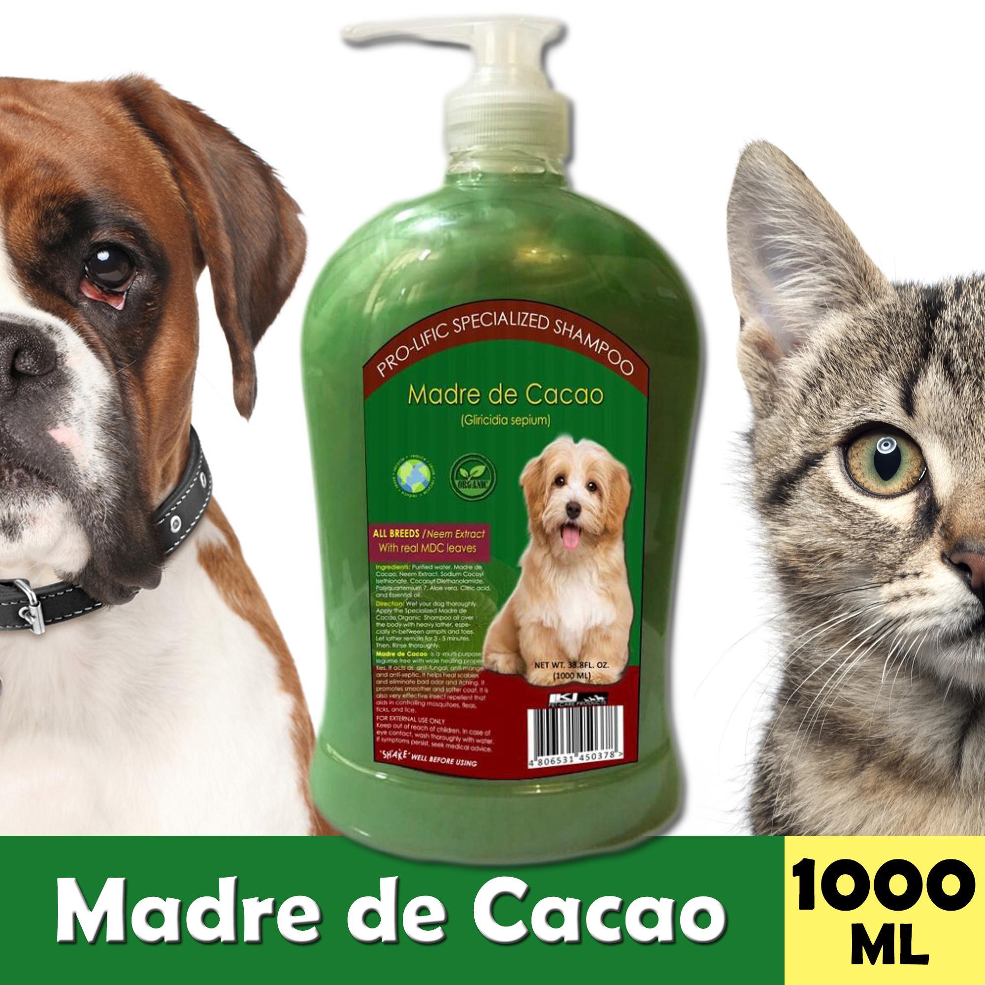 Pure Madre de Cacao 1000 mL Dog and Cat shampoo, anti mange, anti fungal,  anti itch, anti septic, with maximum healing properties