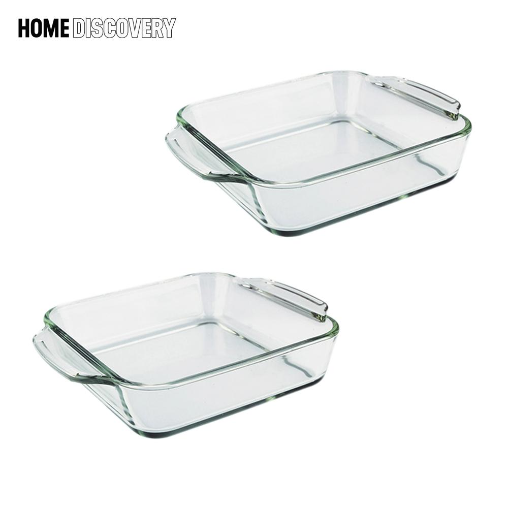 Home Discovery Heat Resistant Square Tempered Glass Baking Dish 1 Liter Set Of 2 By Home Discovery.