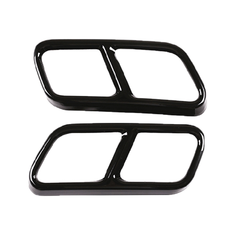 Bảng giá 2Pcs Car Accessories Exhaust Pipe Tail Cover Trim for Mercedes Benz S R Class W222 Coupe W251 10-17 GL Class X166 13-15 AMG Part Black Phong Vũ