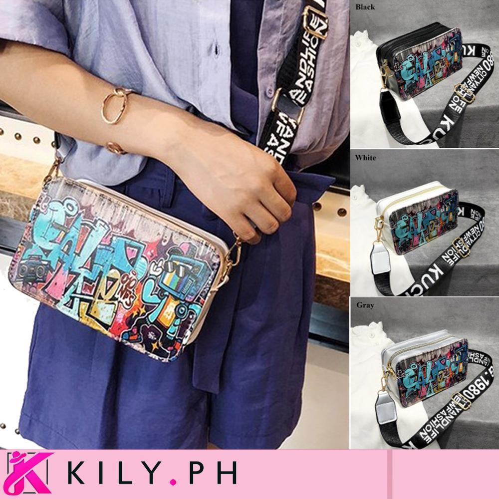 e2a3813c0d1 KILY.PH Wall Street Design Modern Graffiti Sling Bag Korean sling bag 3A0014