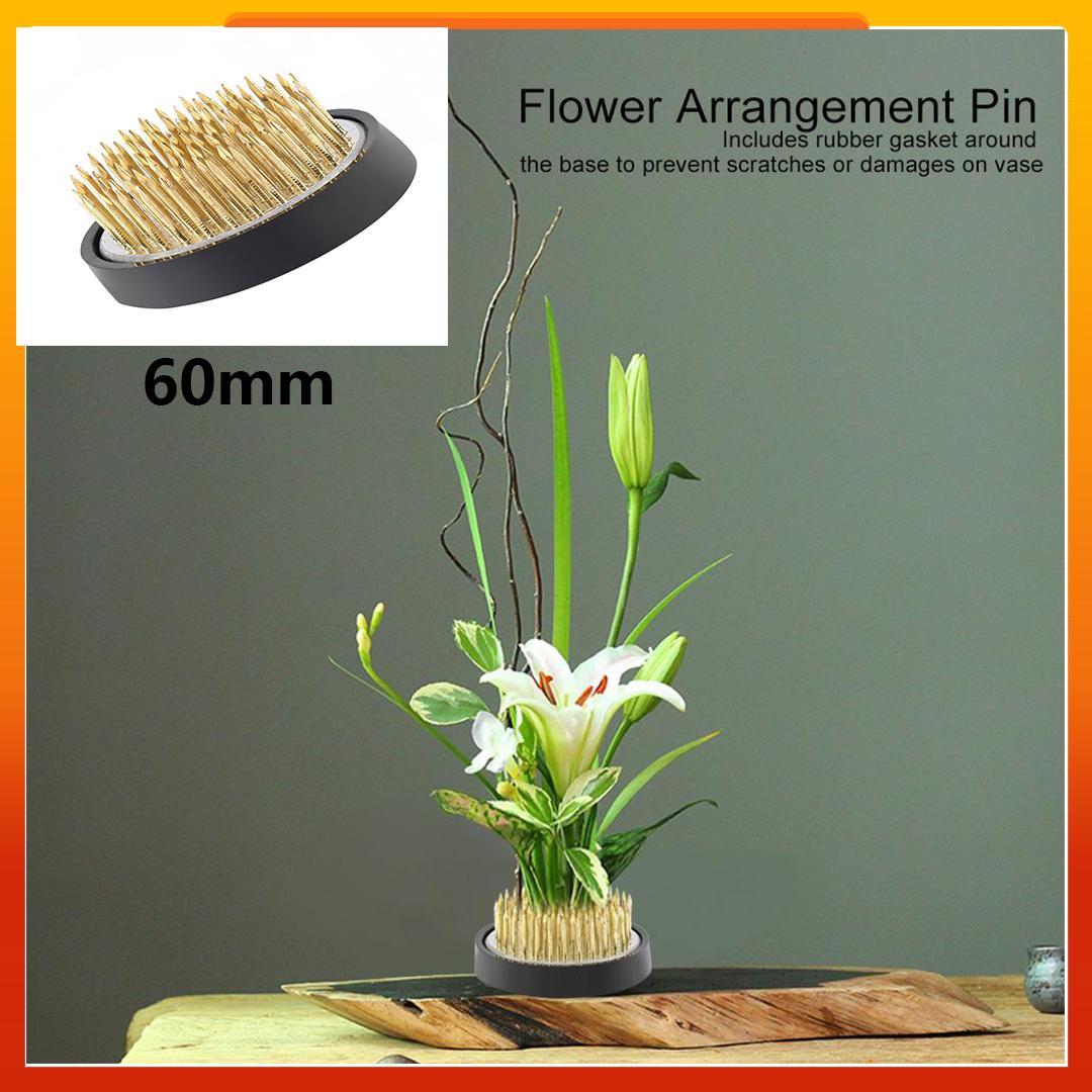 Ikebana Kenzan Needle Flower Arrangement Holder with Non-slip Rubber sleeve