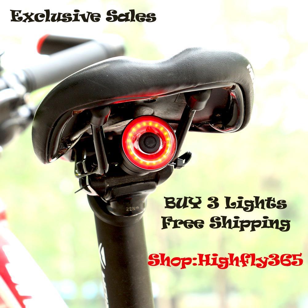 Xlite100 Bicycle Rear Light Riding Smart LED Braking Lamp Warning Lantern Light,