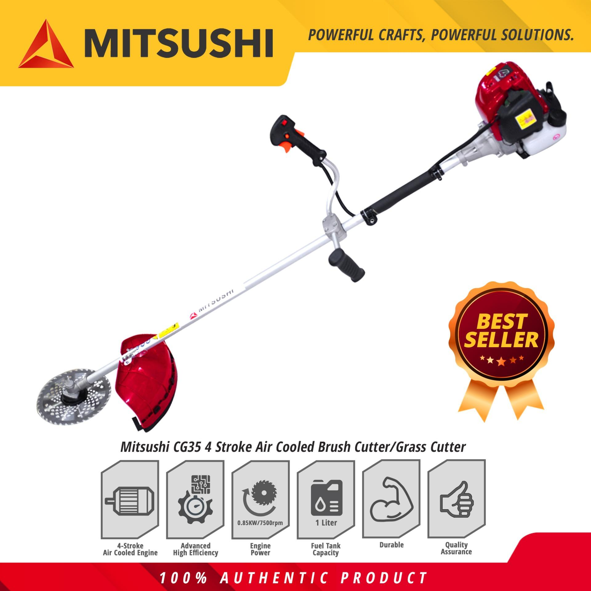 Mitsushi Cg35 4 Stroke Air Cooled Brush Cutter Grass Cutter Lawn Mower By Mitsushi.