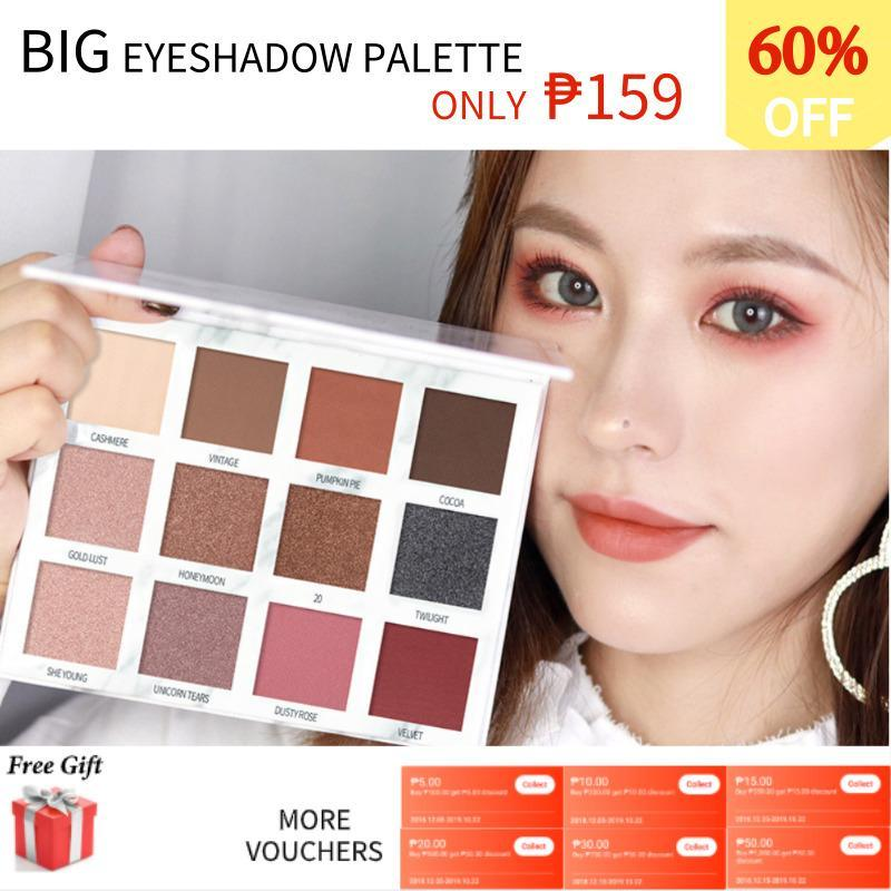 Maycreate 12 Color Palette Marble Matte Eyeshadow Long-Lasting Waterproof Shimmer Eyeshadow Glitter Palette Make Up Set Beauty Philippines