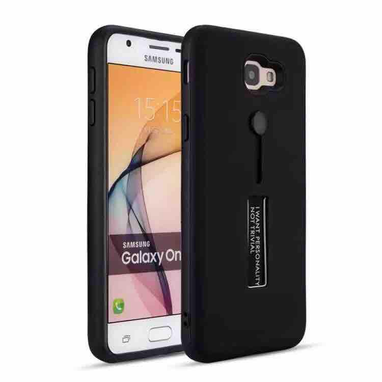 Samsung J7 Prime Armor Back Case With Ring At Stand 3 in 1 Back Case Cover