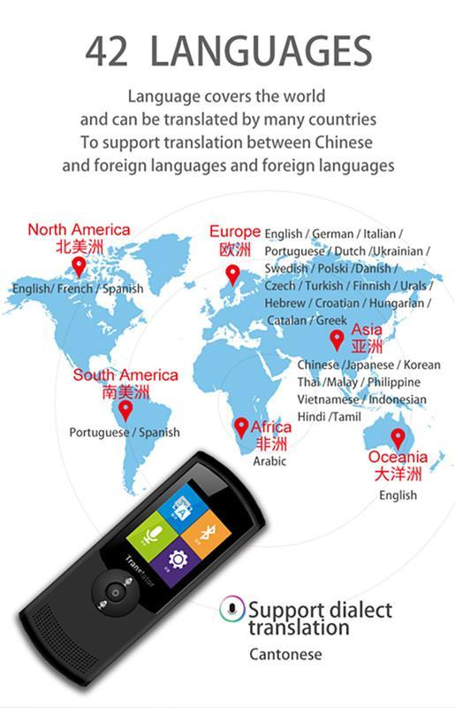 T5 Wifi Smart Voice Language Translator Real Time Business Travel Translator 42 Multi-Language Intelligent Traductor By Jungletec.