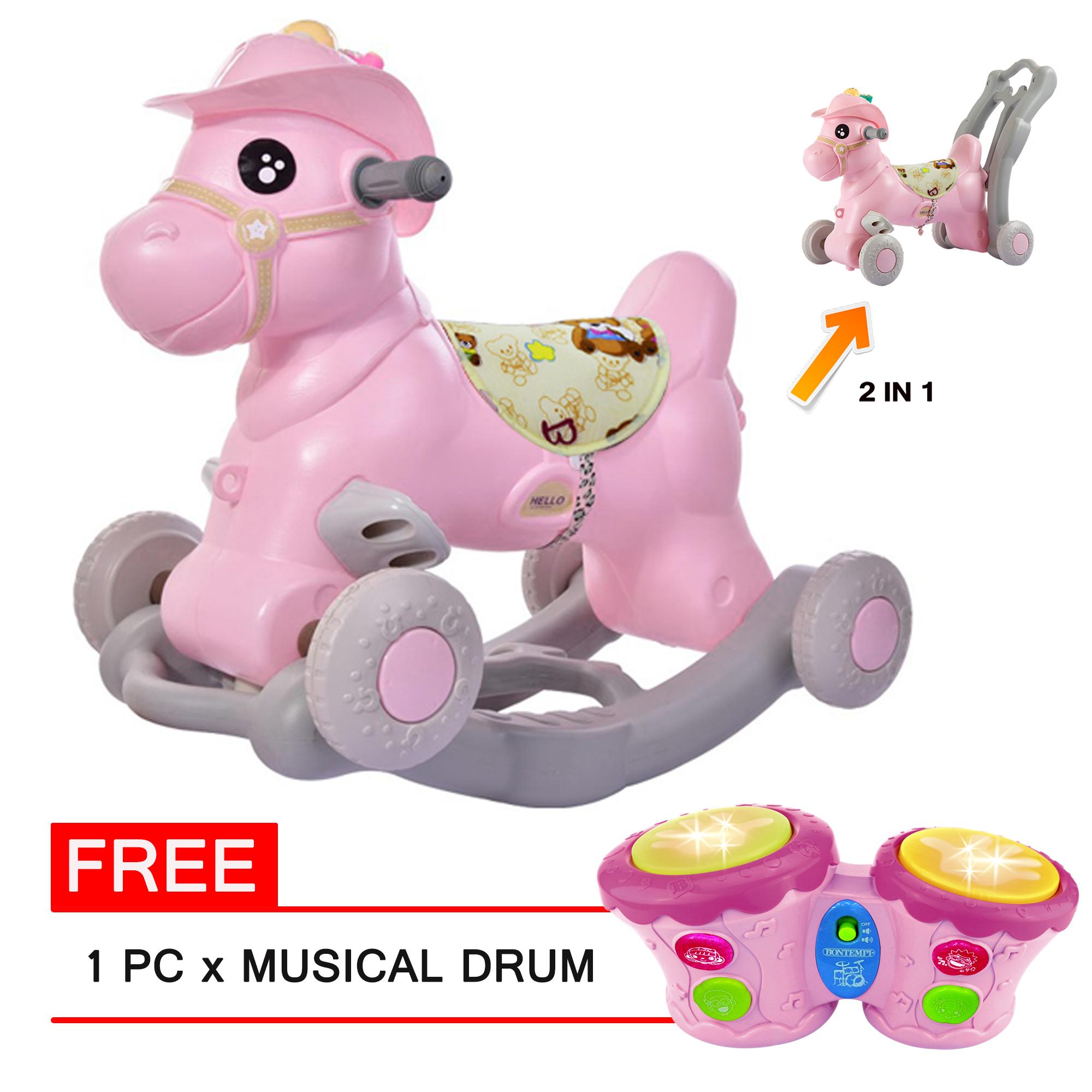 Moonbaby Mb Rh628 Pink Rocking Horse 3 In 1 Lazada Ph