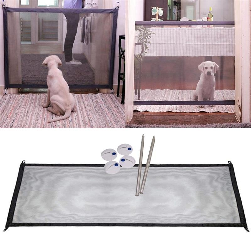 Kitchen,Stairs Doors Magic Gate Portable Folding Safe Guard For Baby House
