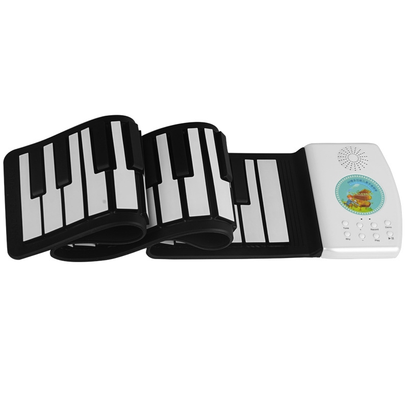 49-Key with a Folding Folding Hand Roll Piano Beginner Version of a Child Portable Silicone Keyboard