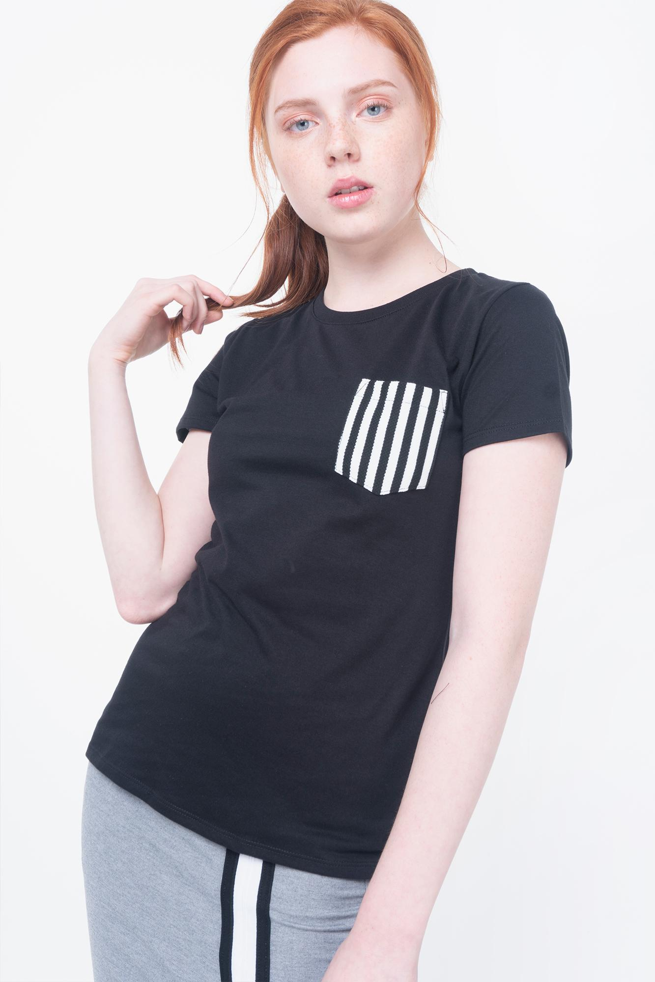 d28b45d2342185 Penshoppe All Day Semi Fit Tee With Pocket Detail (Black)