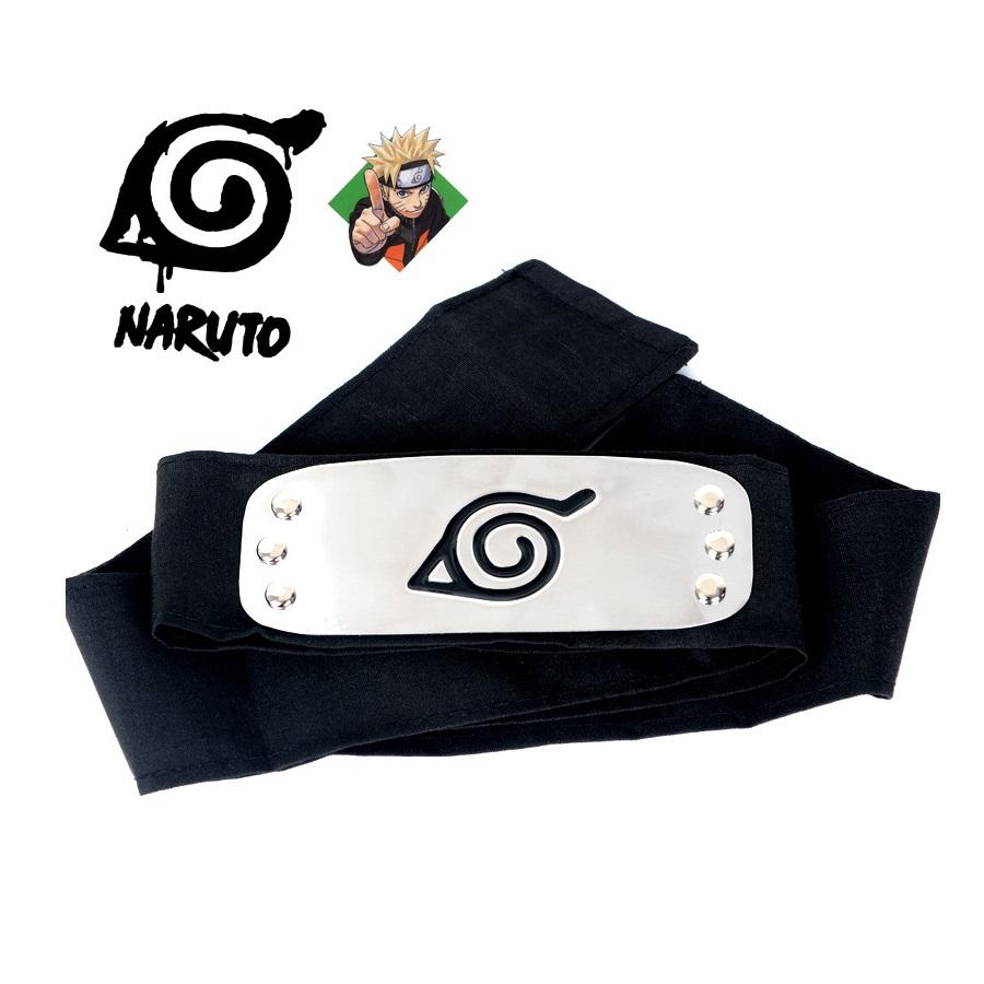 Naruto Forehead Fashionable Headband Cartoon Cosplay Accessories (black) By 101 Bamboo Art Products.
