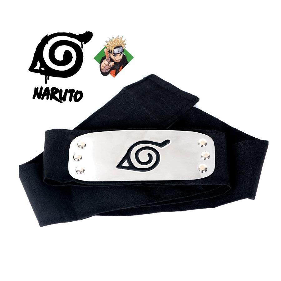 Naruto Forehead Fashionable Headband Cartoon Cosplay Accessories (black) By 101 Bamboo Art Products