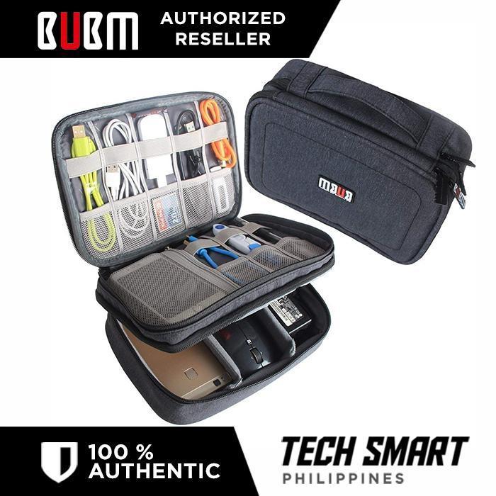 3bbfeac504d Original BUBM Electronic Organizer, Double Layer Travel Gadget Storage Bag  for Cables, Cord,