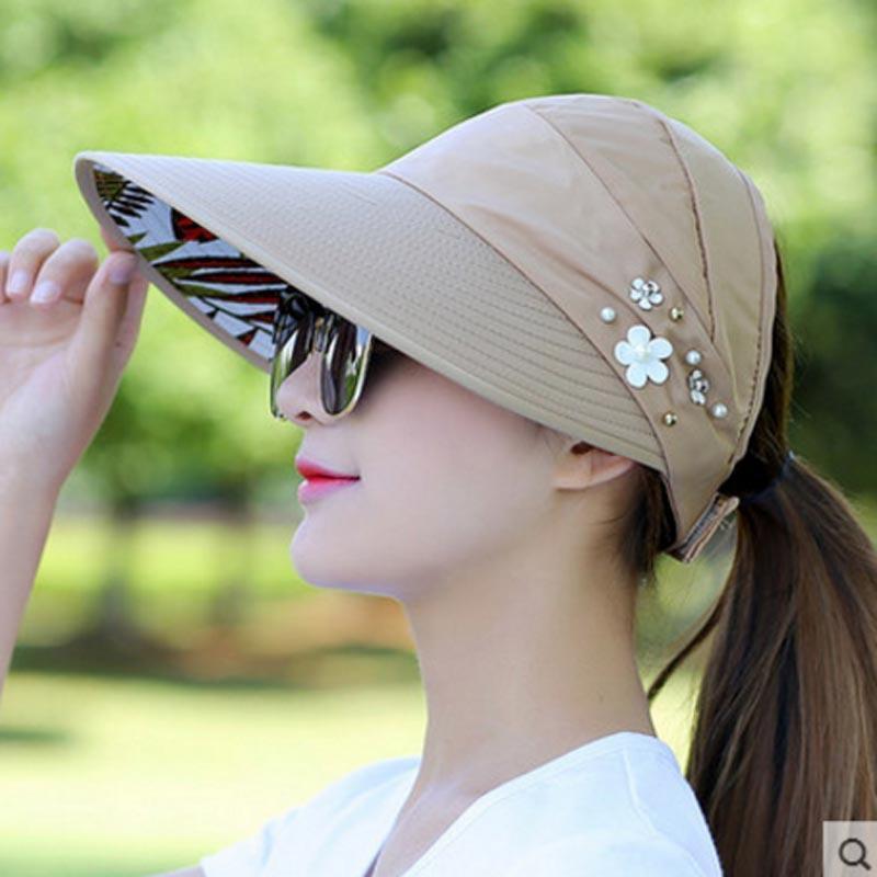 7d493ab7e Summer Hats Women Foldable UV Protection Sun Hat Visor Suncreen Floppy Cap  Chapeau Femme Outdoor Beach