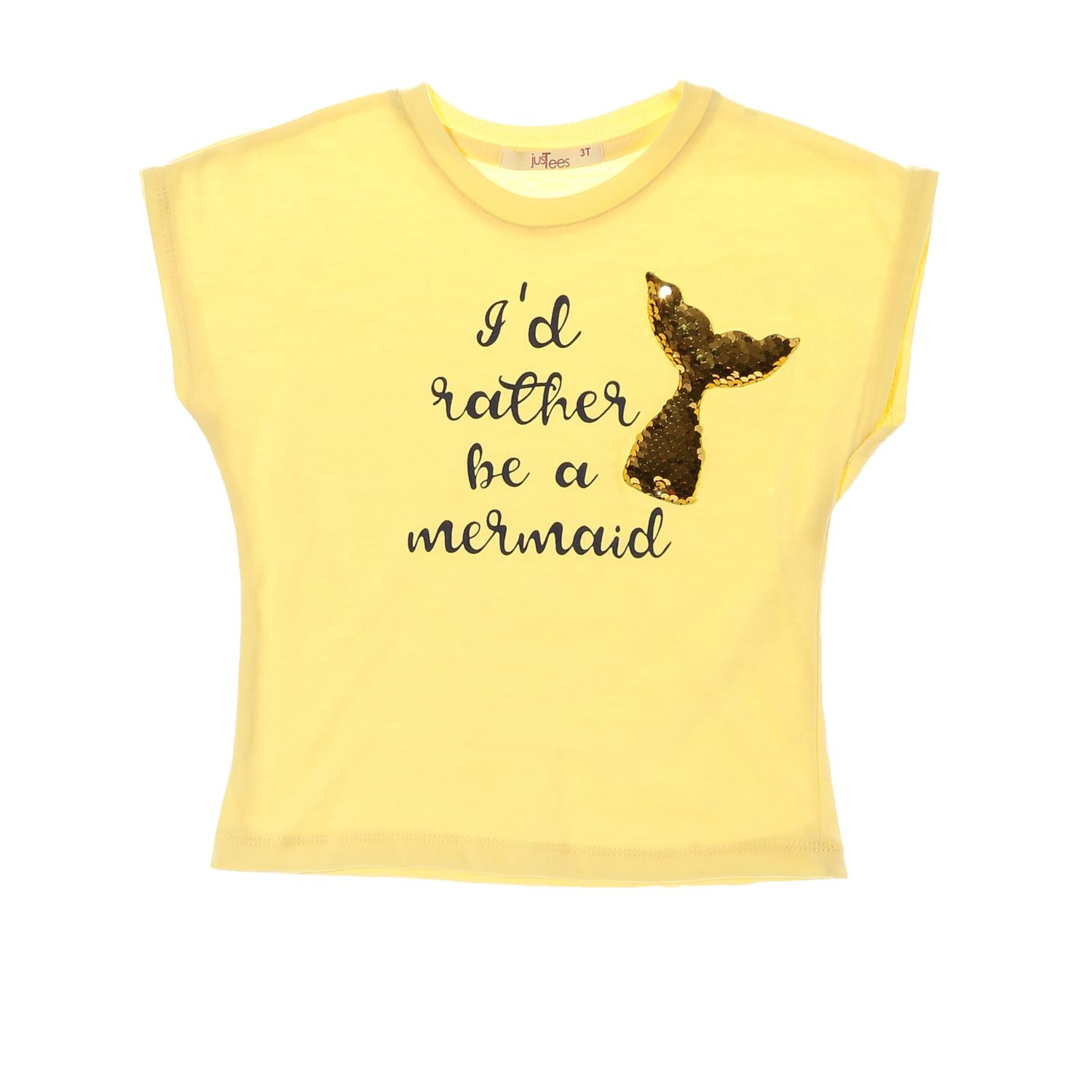 a331787a8c0f2 jusTees Toddler Girls Mermaid Design-changing Graphic Tee in Yellow