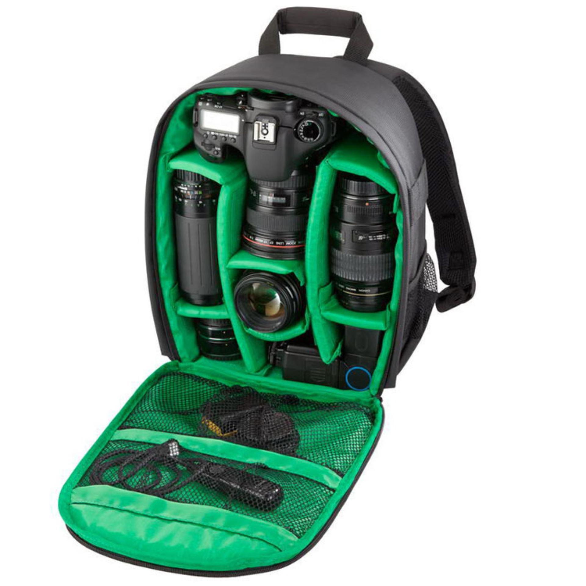 2018 Tigernu Waterproof Camera Backpack DSLR Camera Bag(black green ... f9357c62f0abd