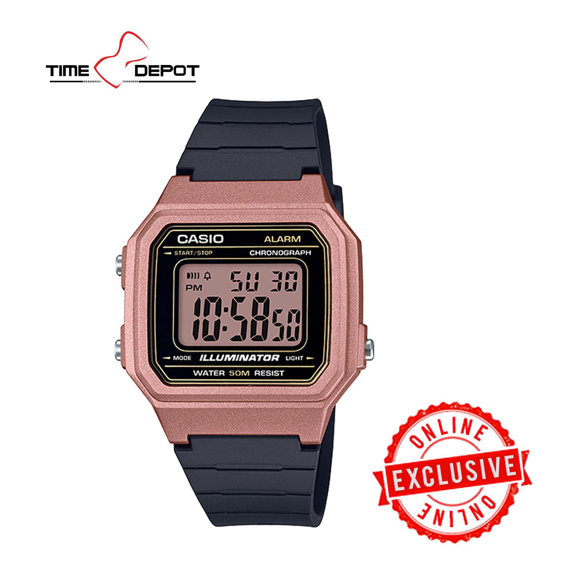 2393a316b1 Casio Unisex Rosegold Digital Black Resin Strap Watch W-217HM-5AVDF