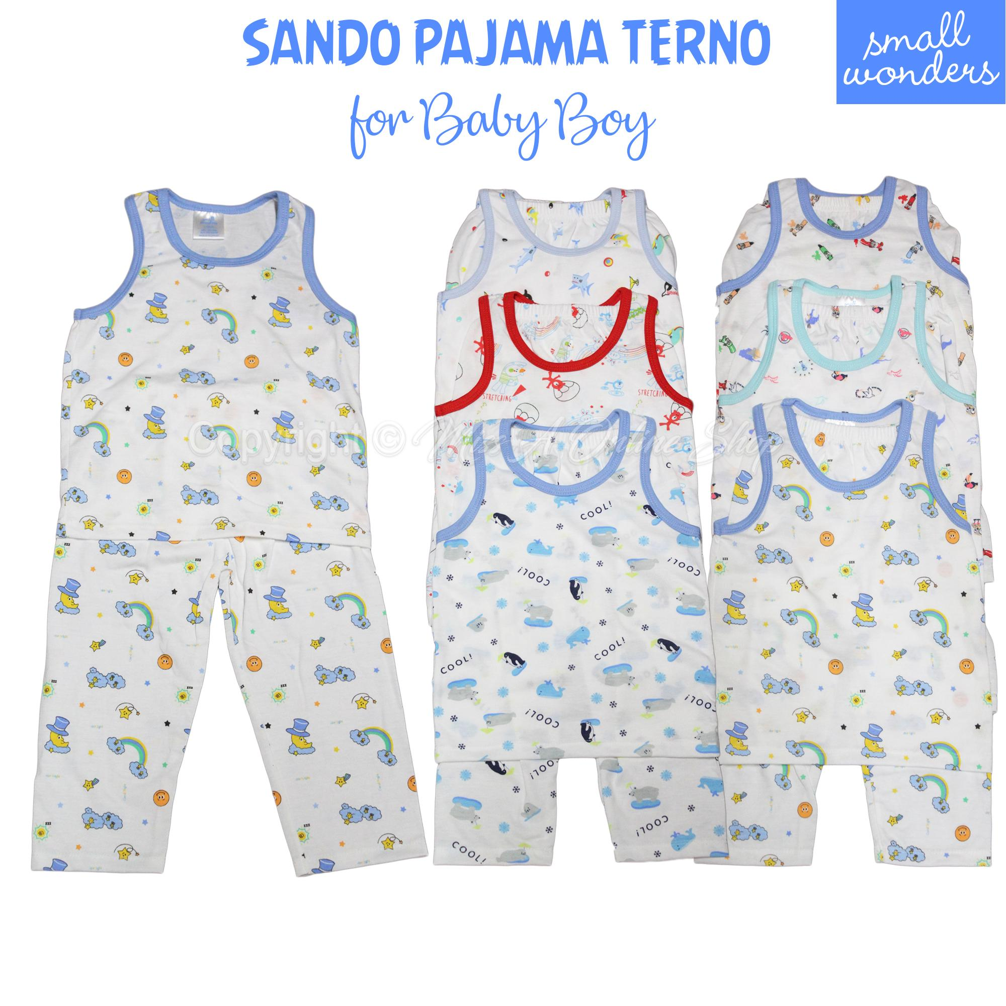 Terno Boxer Sando Pajama Small Wonders 0-5years Old(1 Pair) By Miss A Online Shop.