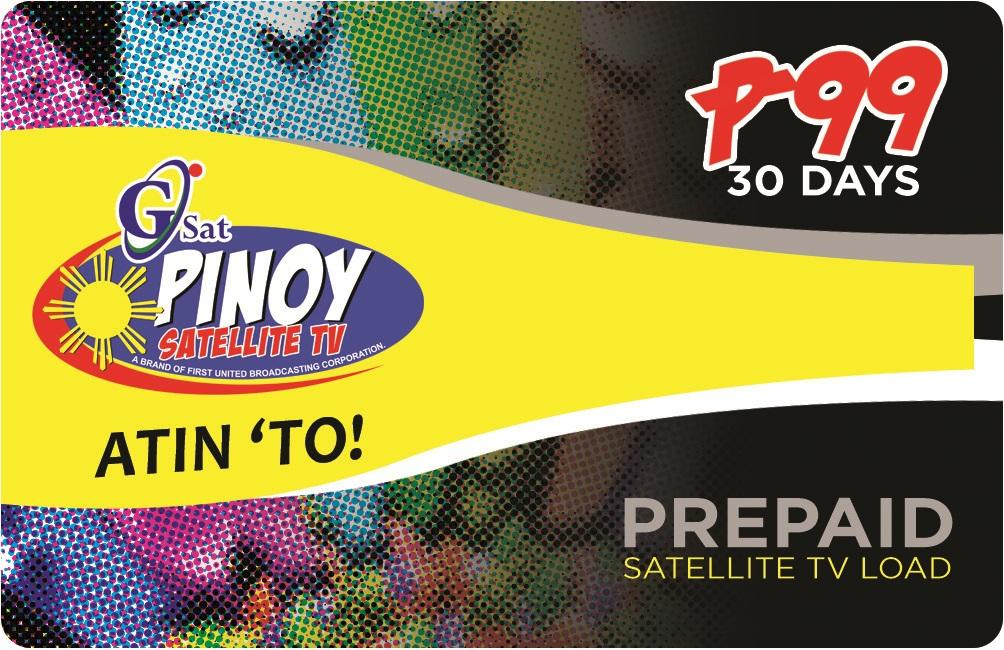 Prepaid GsatPinoy GPinoy Pinoy Load 99