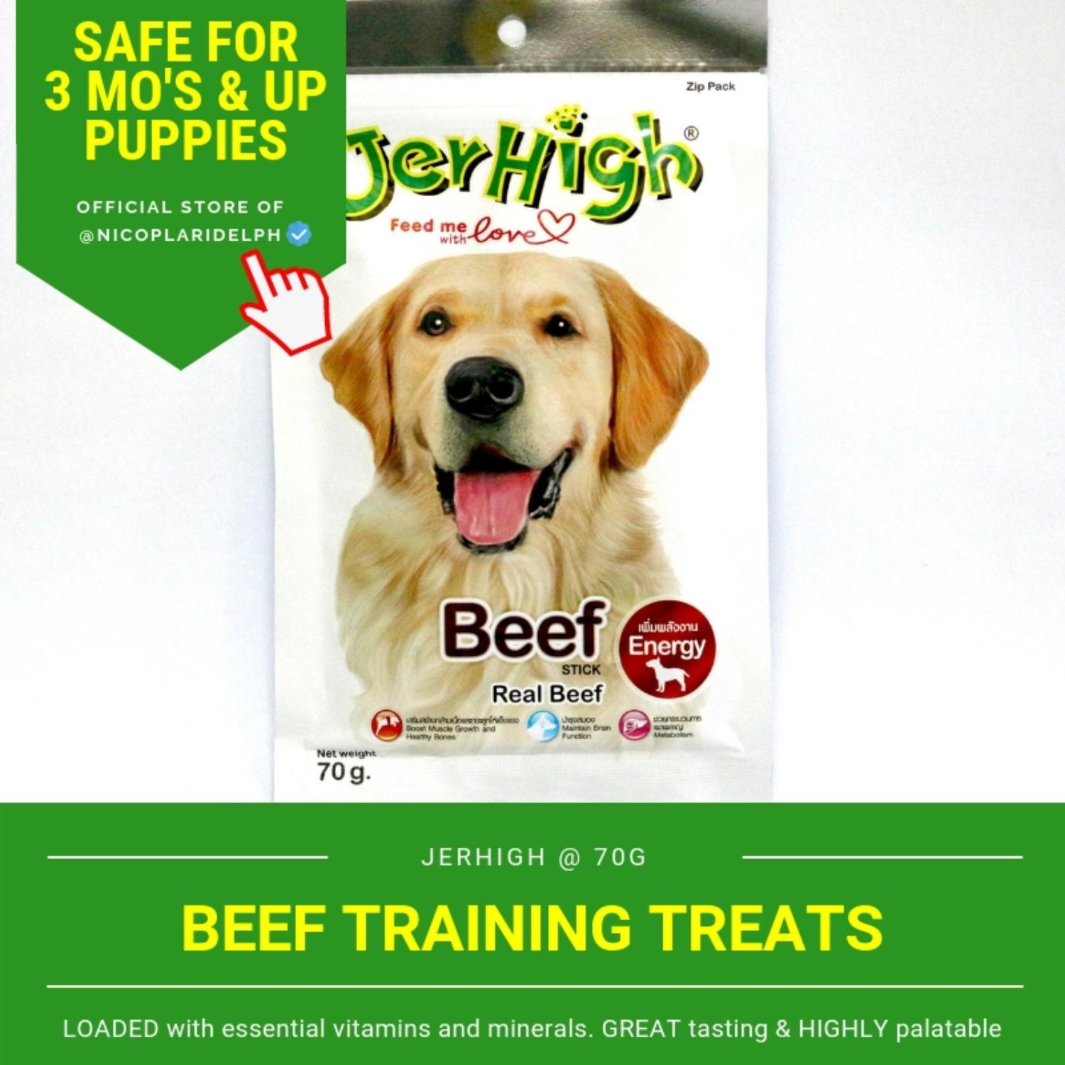 Jerhigh Beef Stick With Real Beef Meat For Puppies And Adult Dogs (70g) By Nicoplaridelph.