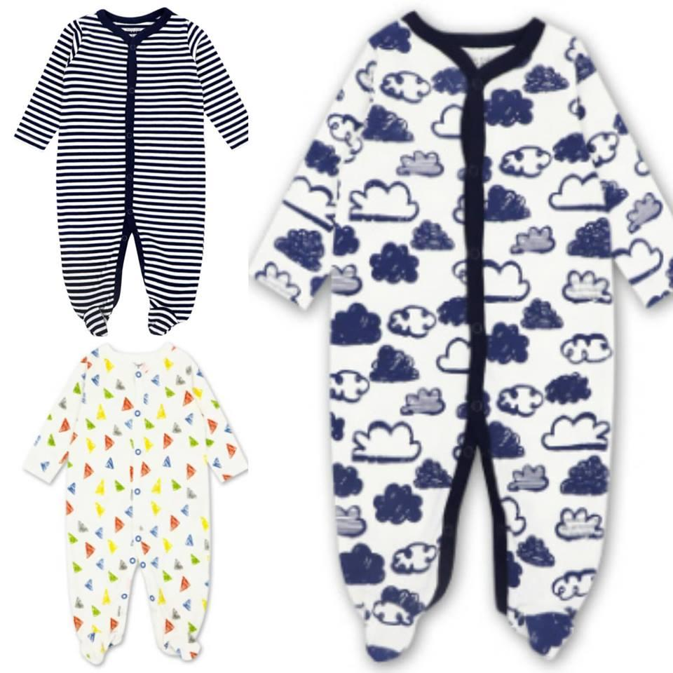 Mk100- Motherkids Premium Quality Sleepsuit 3 Pcs By Fashion & Trend Ph.