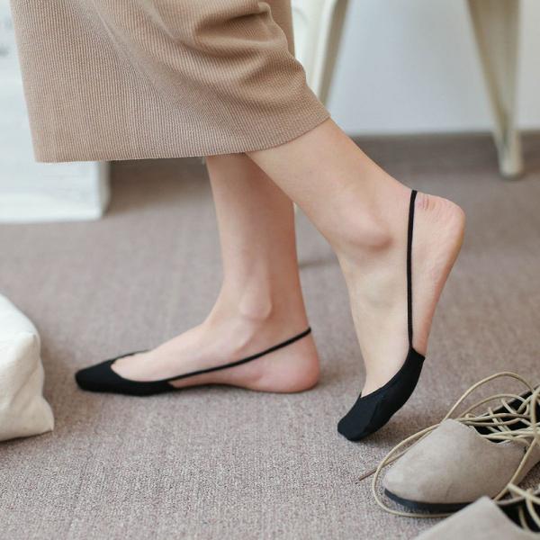 Giá bán Blues Shop 2 đôi Vớ thoáng khí Bông mắt cá chân Cao gót thấp vô hình Mini mùa hè thời trang chống trượt