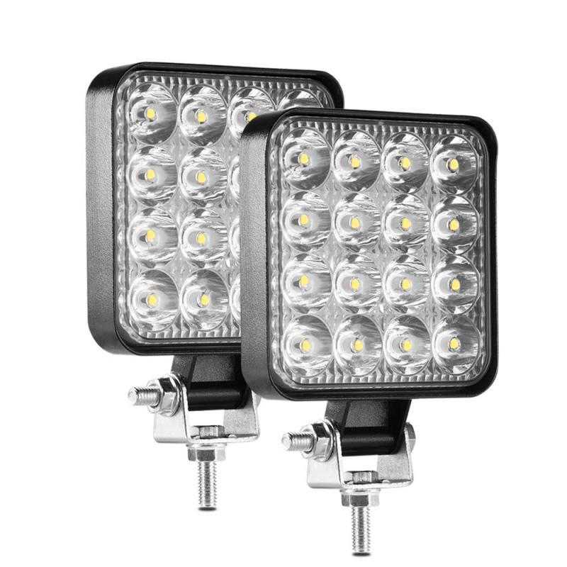 Đèn LED Dạng Thanh 48W Thanh LED 16Barra LED Đèn Xe Ô Tô Cho 4x4 Thanh Led Offroad SUV ATV Máy Kéo Thuyền Xe Tải Máy Xúc 12V 24V Đèn Làm Việc