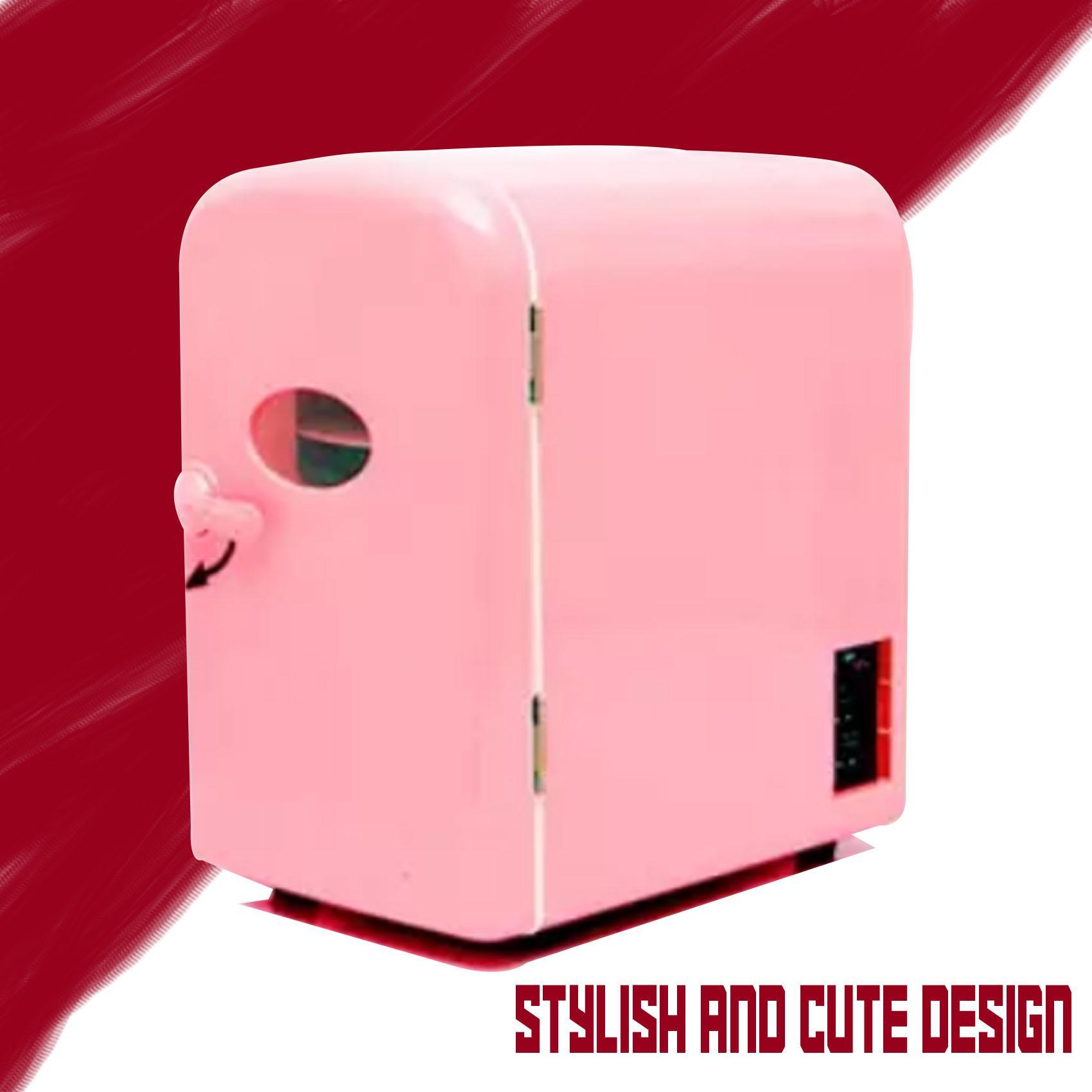4 Liter Portable Personal Mini Fridge Ref Cooler Warmer (Pink)