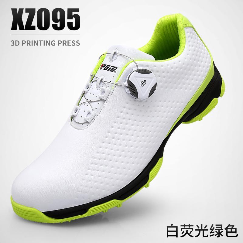 Item Baru! Laris Golf Sepatu Bola Pria Tahan Air Sepatu Ganda Paten Berputar Tali Sepatu 3d Pelat By Koleksi Taobao.