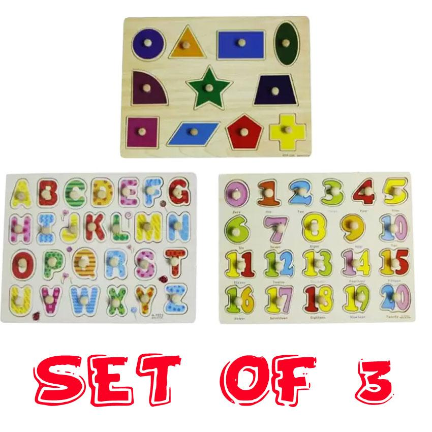 Wooden Block Toy Alphabet Numbers Building Jigsaw Puzzle dinosaur Shape Kids Toy