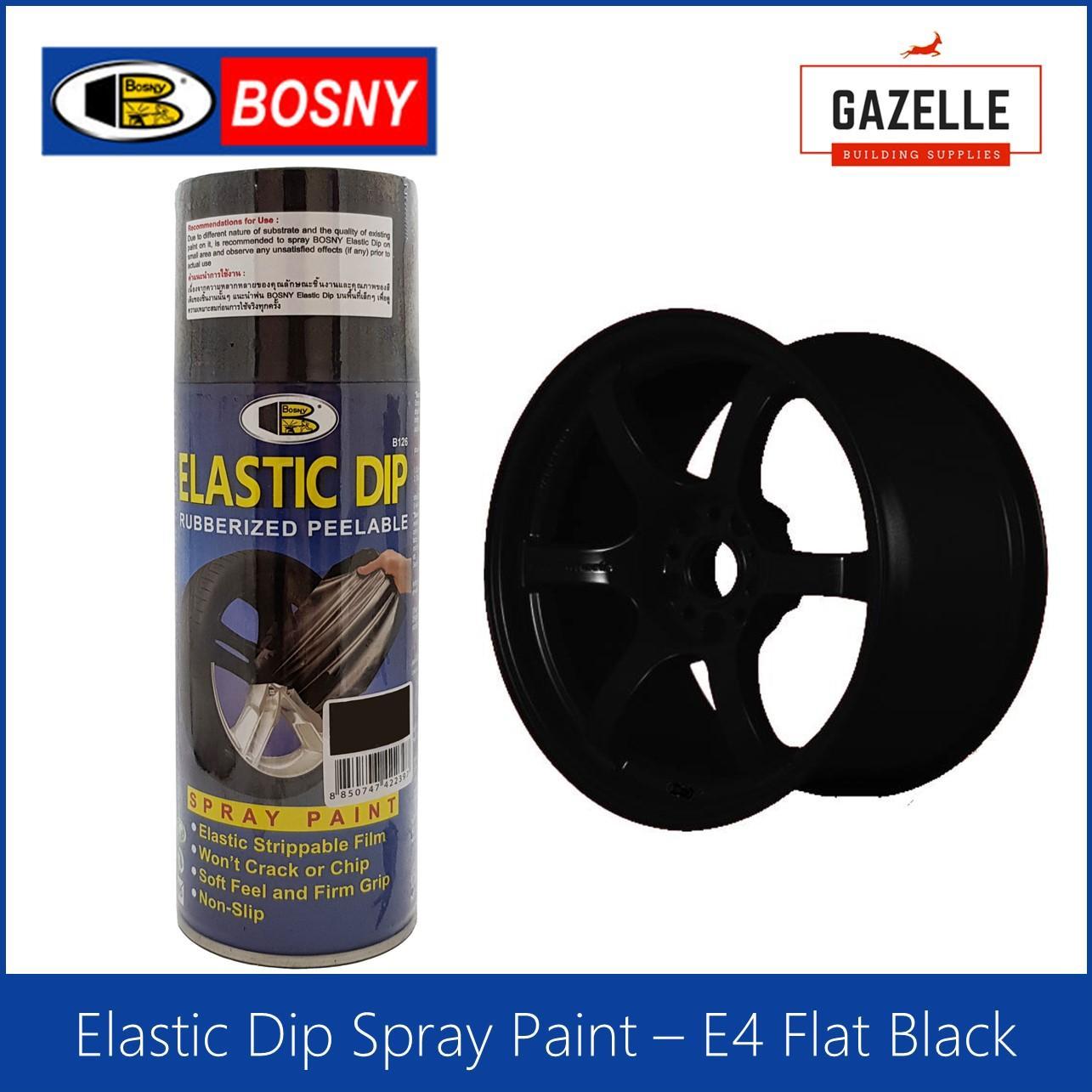 Bosny Elastic Dip Rubber Coating Peelable - E4 Flat Black