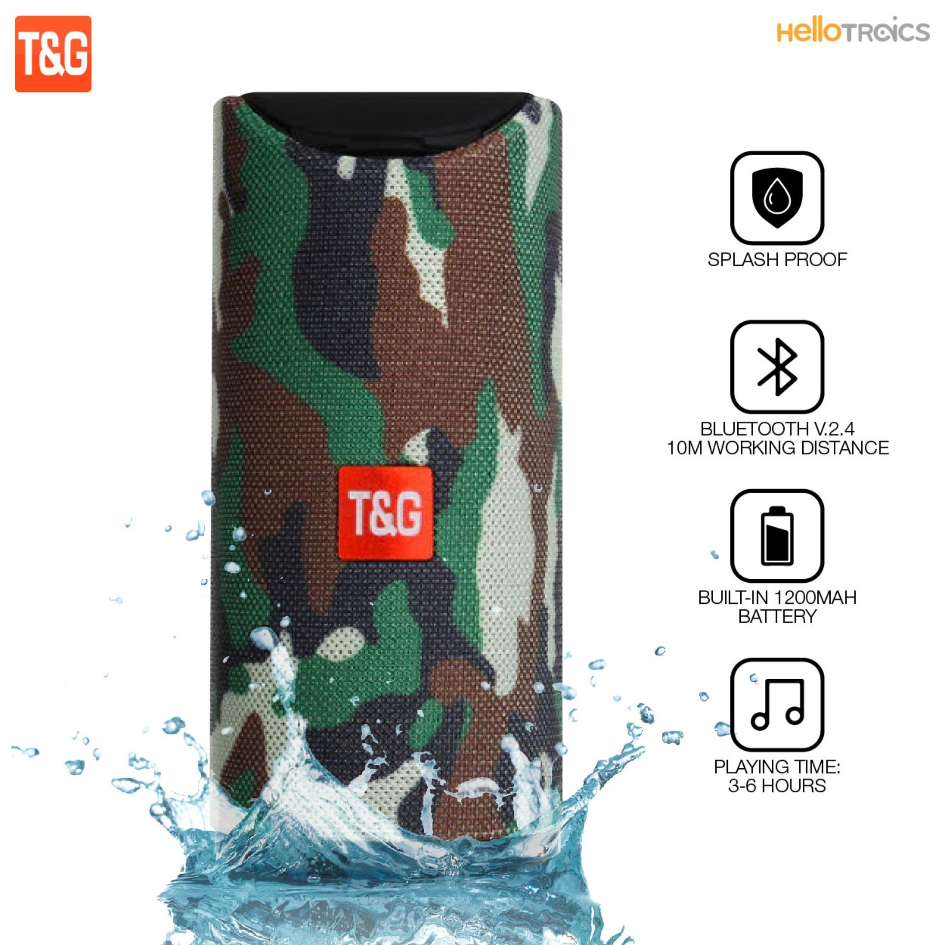 0ff394885 T G TG113 Super Bass Splash proof Bluetooth Speaker with SD Card Slot and  Aux