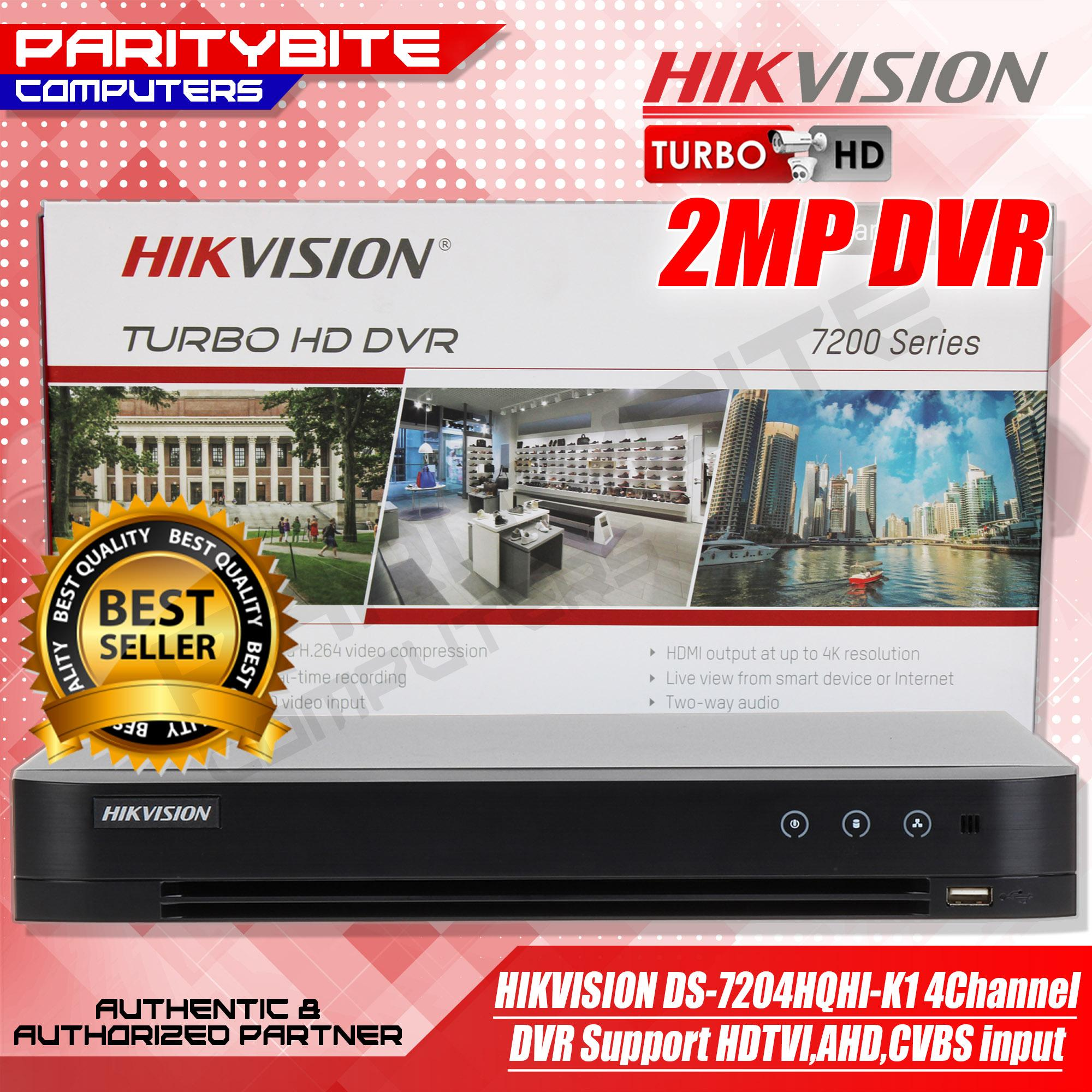 HIKVISION DS-7204HQHI-K1 H 265+ 1080P 4CH 1SATA 3 0 1U DVR