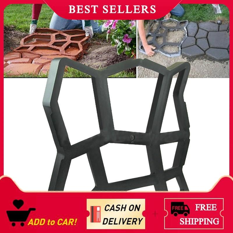 【Free Shipping】Driveway Paving Pavement Mold Patio Concrete Stepping Stone Path Walk Maker Philippines