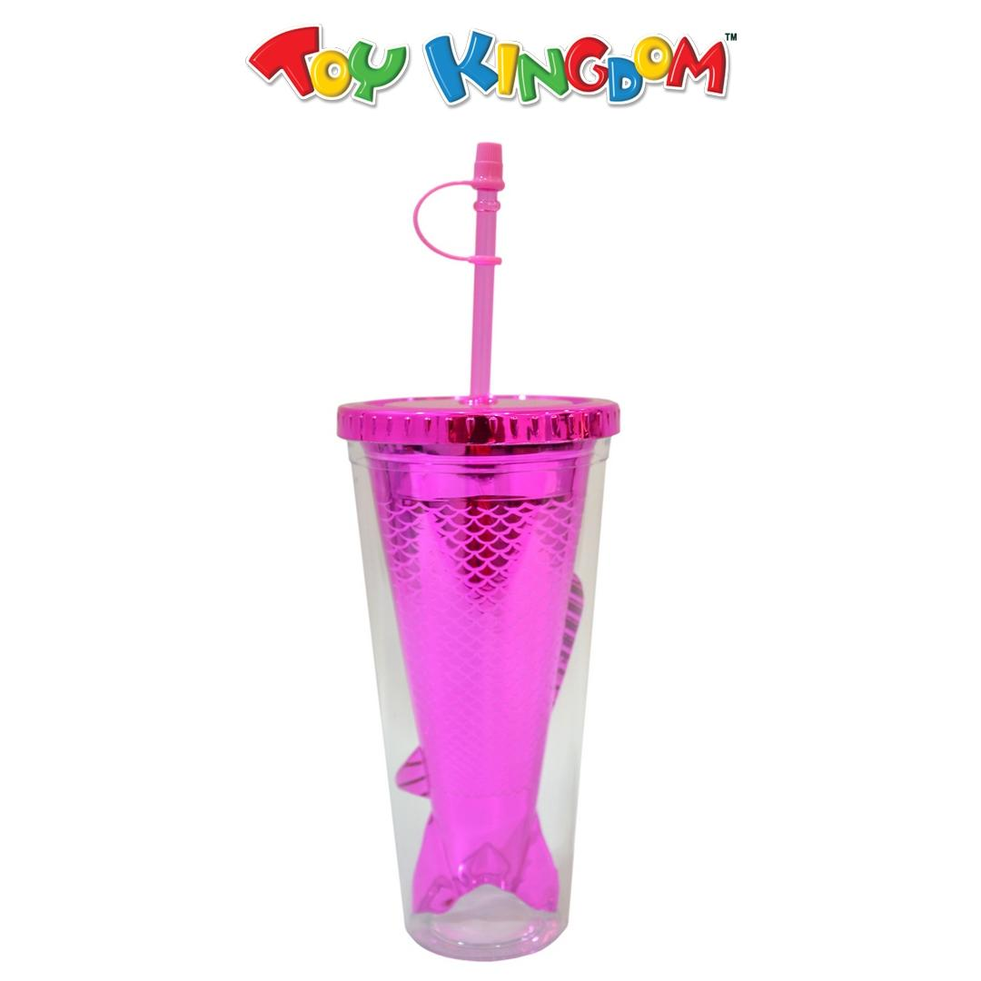 Mermaid Tumbler with Cover and Straw