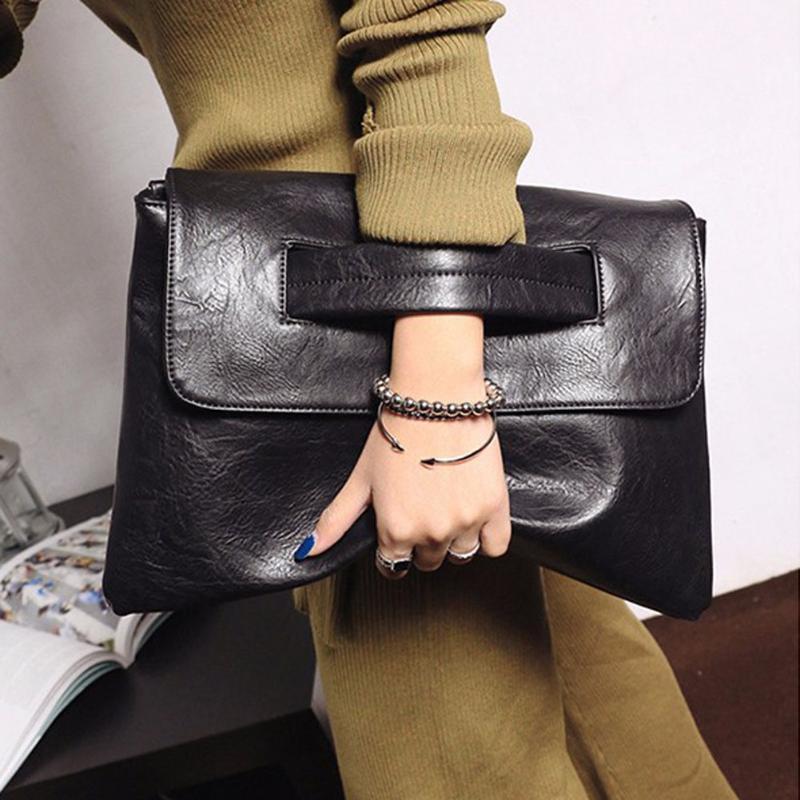 Women Retro Clutch Bag 2020 PU Leather Crossbody Messenger Bags for Women Trend Handbag Female Ladies Clutches Bag C20