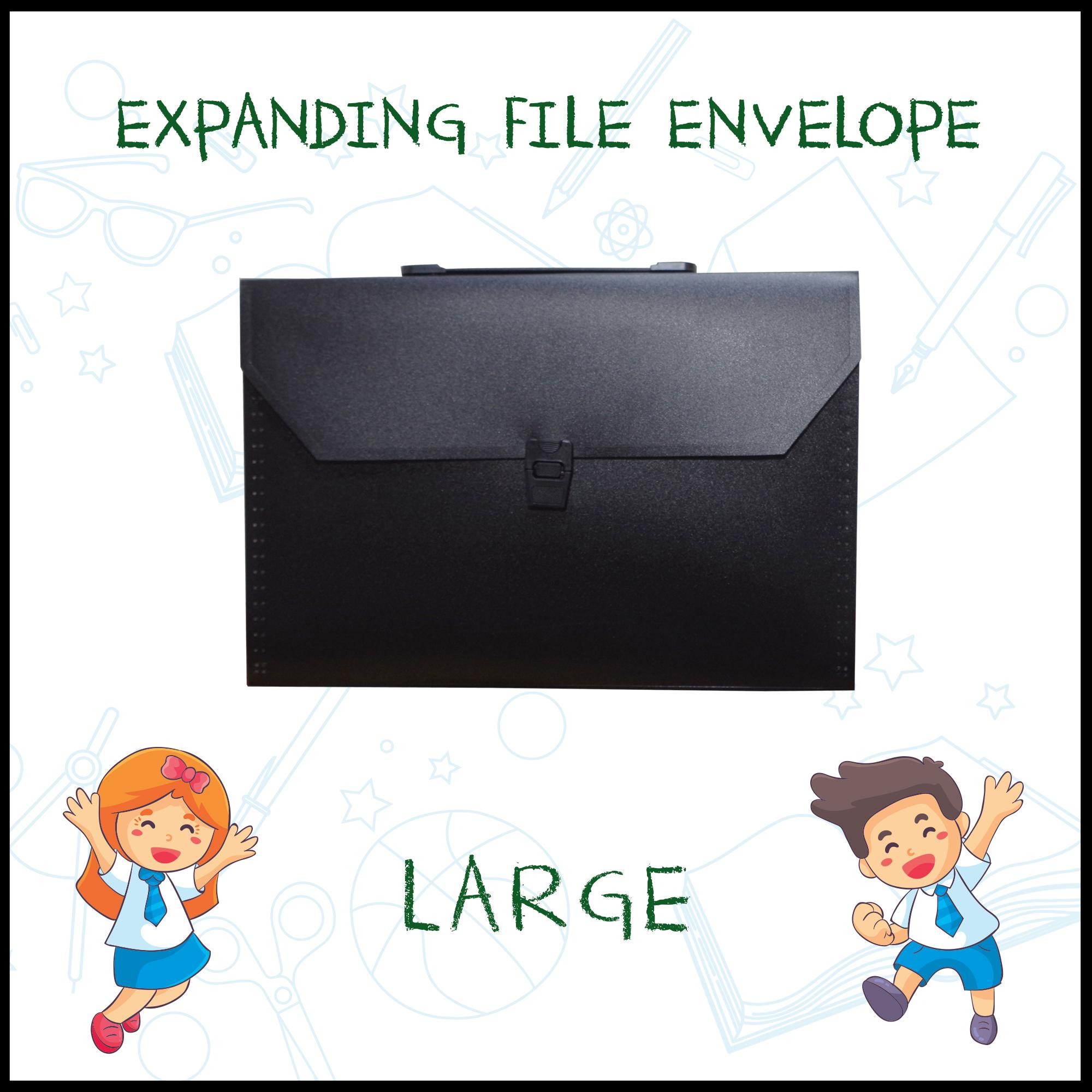 Expanding Envelope File with handle - large