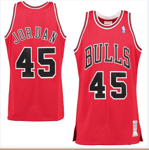 huge discount ede9f cb424 NBA BASKETBALL RETRO JERSEY Michael Jordan 1996-97 Authentic Jersey Chicago  Bulls