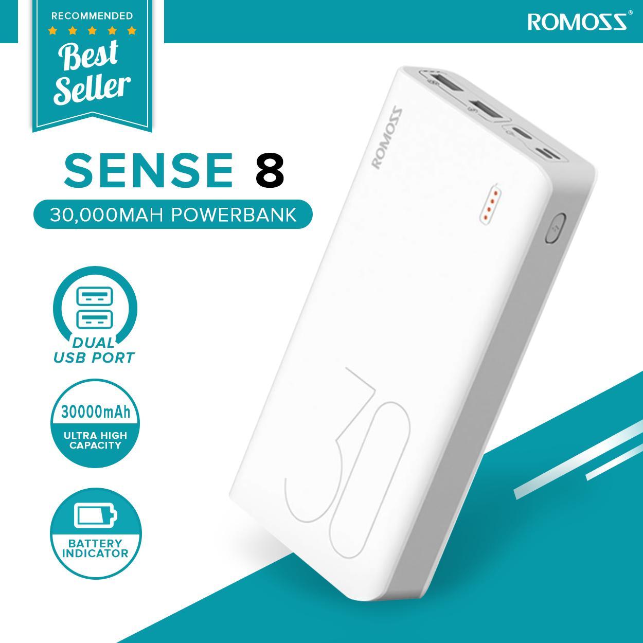 Romoss Sense 8 30000 mAh Multi-USB Powerbank (White)