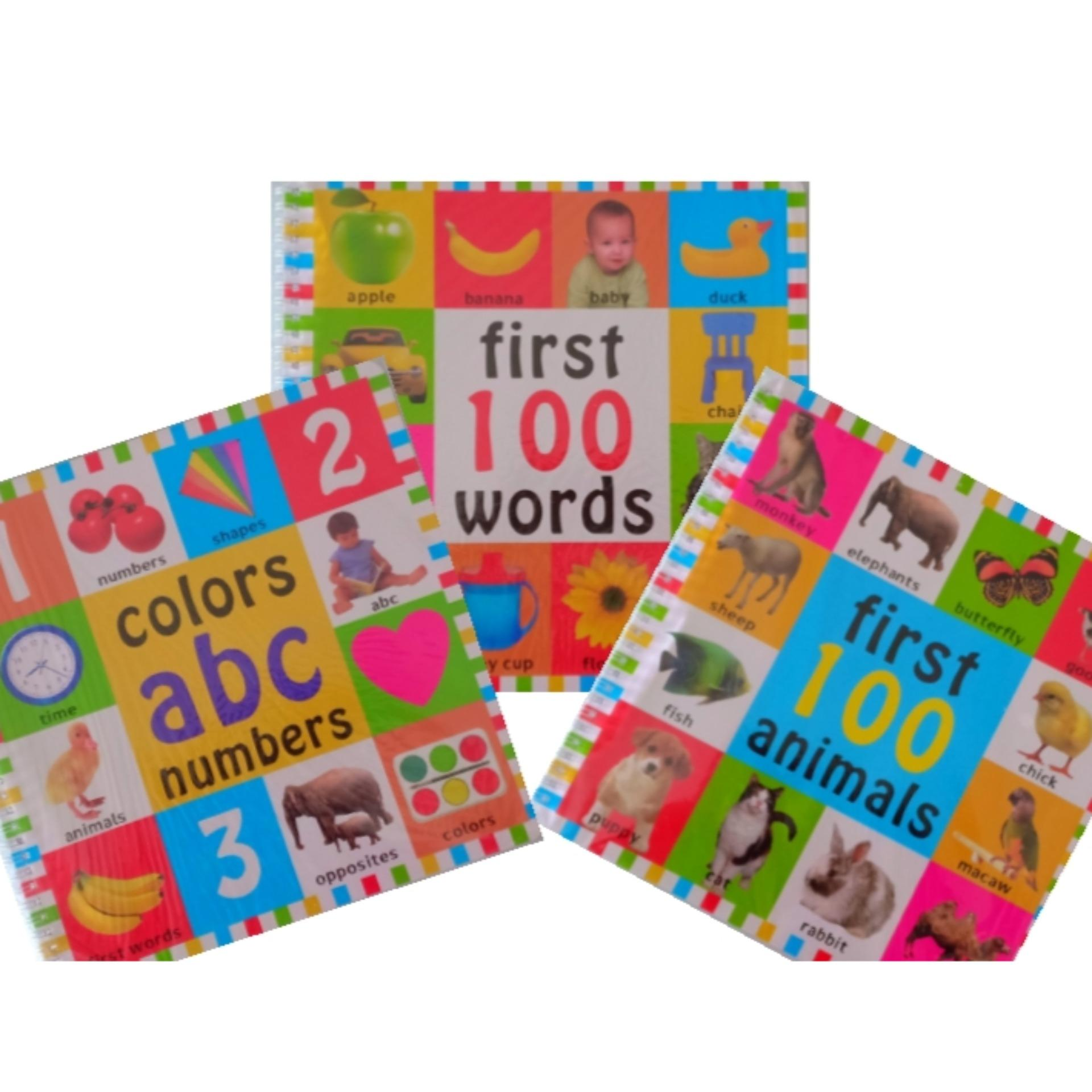 Alphabet Abc Numbers Color Shapes1st Word Book Complete Set- Educational Toddler Book By Momandkidscorner.