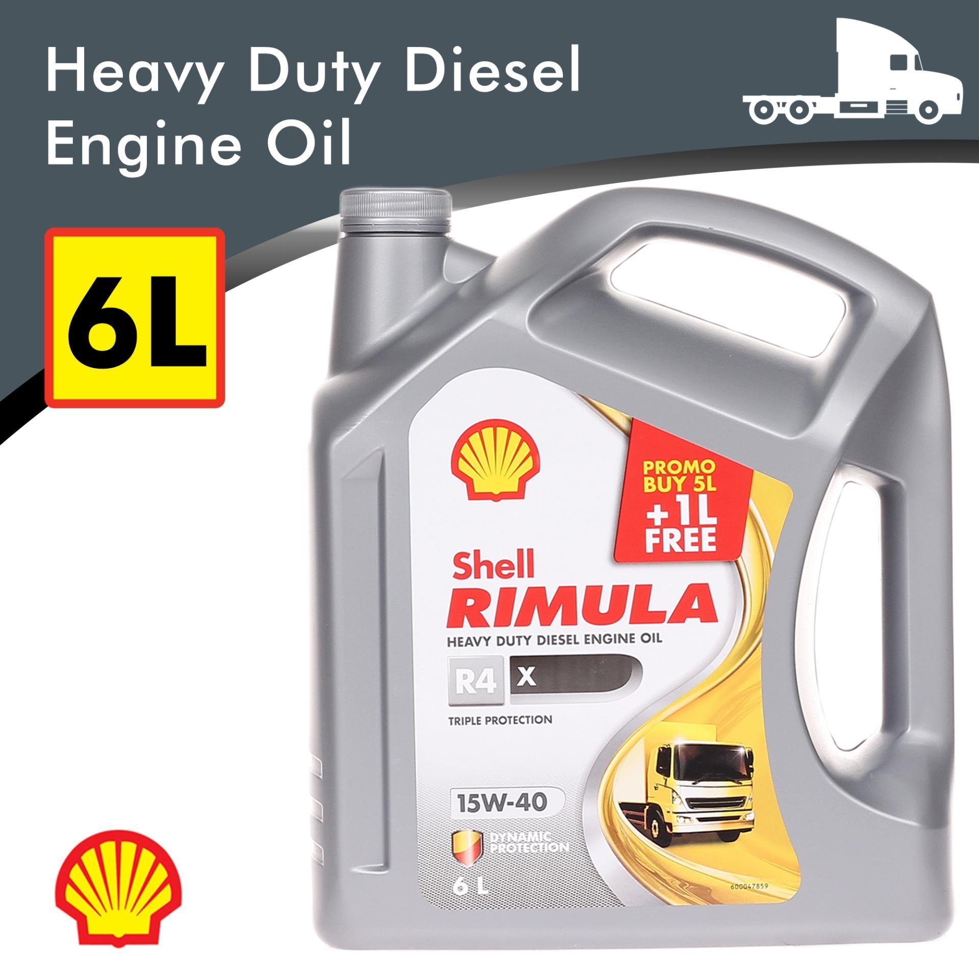 Shell Rimula R4 15W-40 5Liters + 1Liter Free