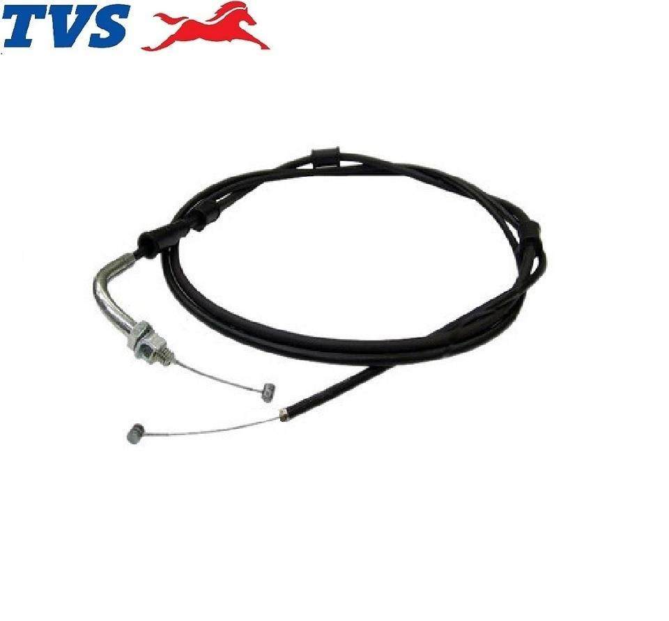 Tvs Xl 100 - Cable Assy Throttle ( P.no. P6170010 ) Tvs Motorcycle Genuine Parts By Tvs Genuine Parts ( Tvs Global ).